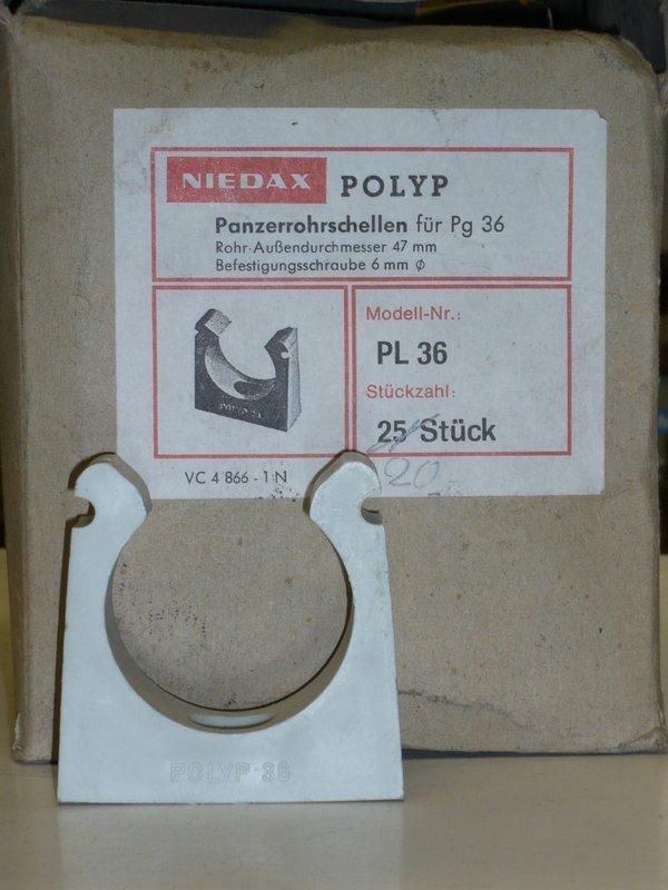 20 Rohrschellen PG36 für Kunststoffpanzerrohr