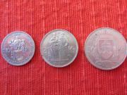 3 Silbermünzen Slovenska Republika 10