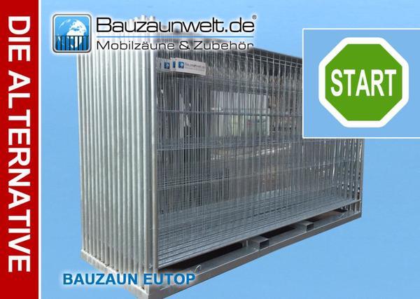 36x Bauzaun Mobilzaun Eutop Betonstein