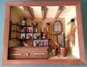 3D Holzbild Diorama