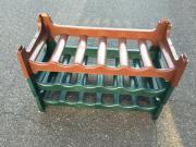 3x alte grüne Flaschen Regale