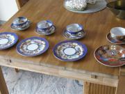 4 Asiatische Teetassen mit Unterteller