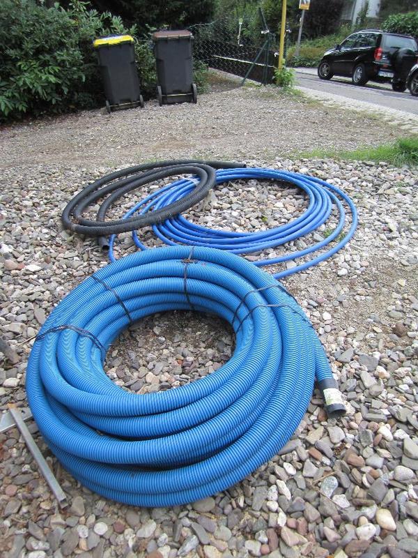 50 meter leerrohr kabuflex r blau dn 75 und 38 meter erdleitung f r trinkwasser 32x2 svgw grad b. Black Bedroom Furniture Sets. Home Design Ideas