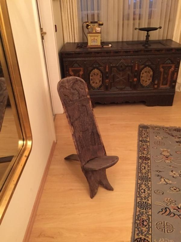 Afrikanischer Steckstuhl Handarbeit geschnitzt Einzelstück