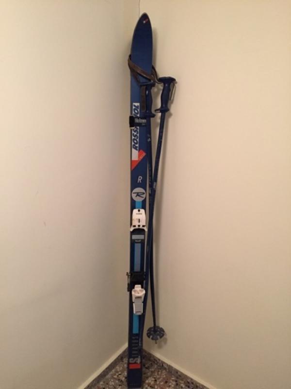 Alpin Ski Set : Rossignol Stratos 170 cm mit Stöcken - Starnberg - Alpin Ski Rossignol Stratos 170 cm mit Marker Bindung und Stöcken 95 oder als Komplettset mit Salomon Schuhen Gr. 43 Silber , Ellipse - Starnberg