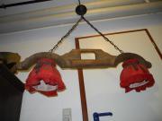 Alte Antike handgeschnitztes Ochsenjoch als