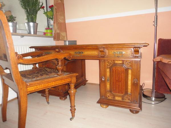 Intarsien tisch neu und gebraucht kaufen bei for Holztisch mit marmorplatte
