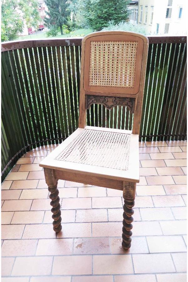 Antiker Stuhl Klassischer Stuhl Eichenholz Gewebestuhl