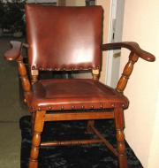 Antiker Stuhl Sessel Chaire Leder