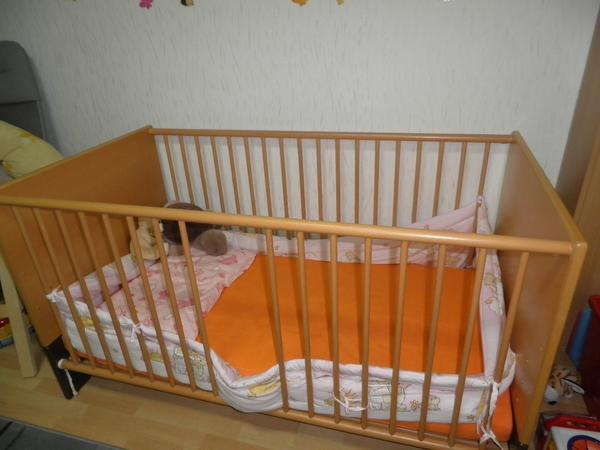Babybett Gitterbett Juniorbett Kinderbett 70x140 gebraucht kaufen  71638 Ludwigsburg