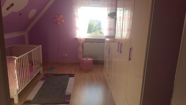 babyzimmer komplett mit gitterbett, babybett kinnderzimmer -sehr