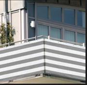 Balkonsichtschutz, grau-weiß