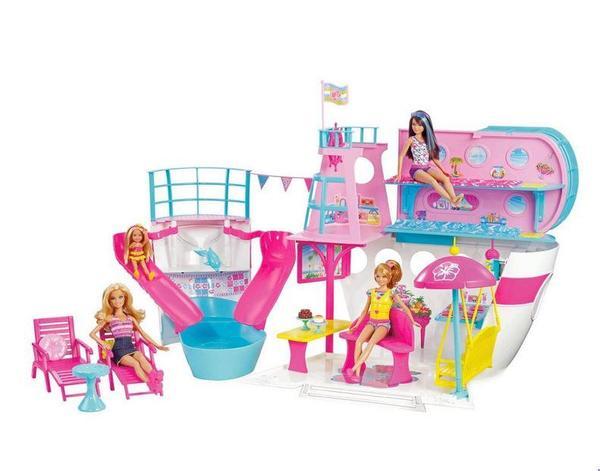 Barbie Puppen Party-Kreuzfahrtschiff mit wasserrutsche