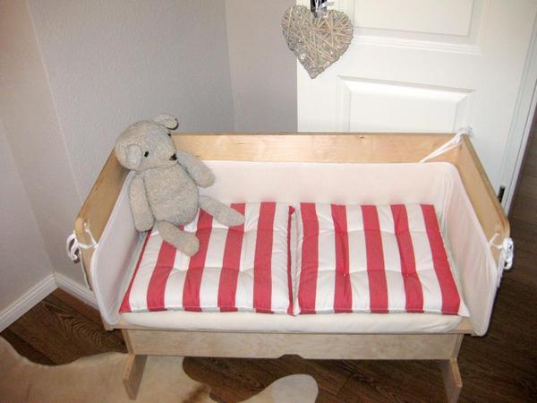 beistellbett f r ikea bett malm in stuttgart wiegen. Black Bedroom Furniture Sets. Home Design Ideas