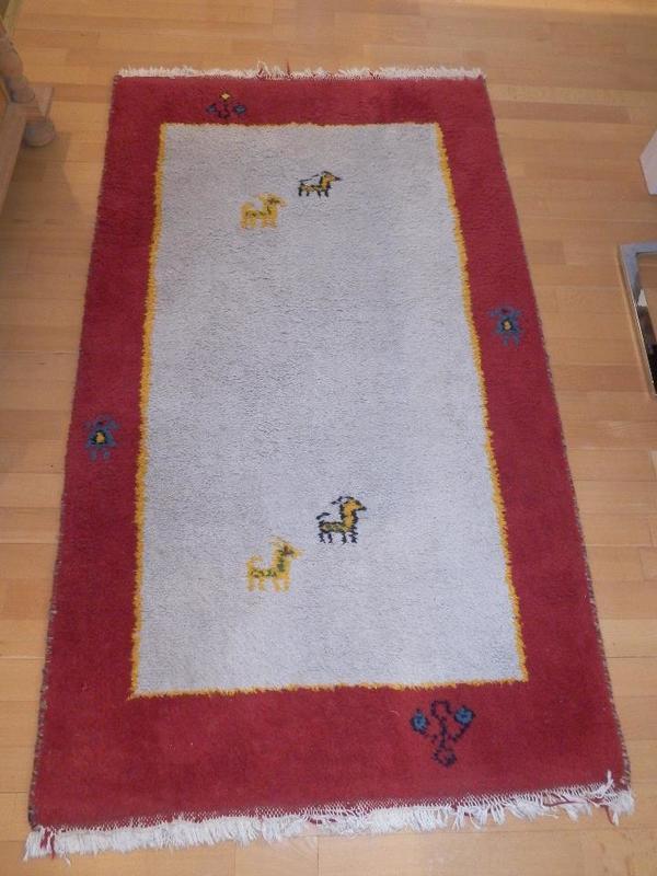 Berber Teppich rot weiß 167