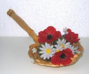 Blumen Deko in Korblöffel