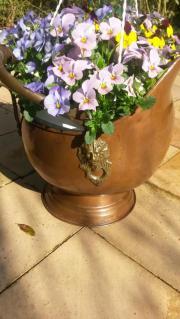Blumenkübel Kupferkessel antik ,