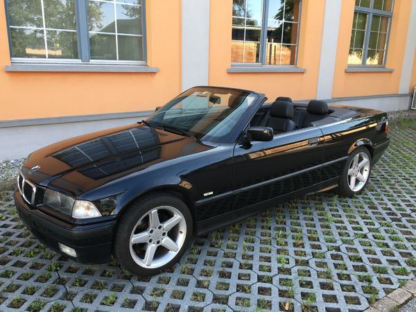 bmw e36 318i cabrio 115 tkm 116 ps hardtop schwarz 3. Black Bedroom Furniture Sets. Home Design Ideas