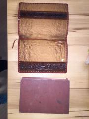 Buch mit Ledereinband
