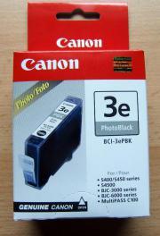 Canon Tintenpatrone 3e PhotoBlack BCI-3ePBK