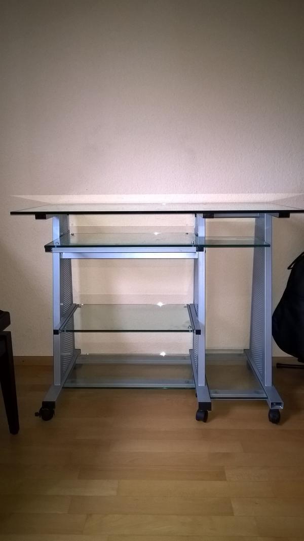computertisch glas neu und gebraucht kaufen bei. Black Bedroom Furniture Sets. Home Design Ideas
