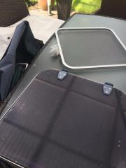 Dachluke aus Motorboot