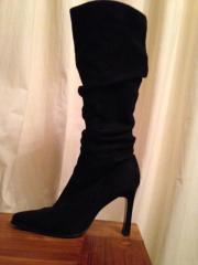 Damen Schuhe Stiefel in schwarzer