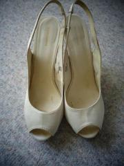 Damenschuhe Wedges Sandaletten beige Gr