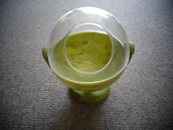 Deko Wattebox Kugel grün transparent