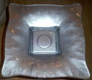 Dekoschale Dekorationsständer Metallständer mit Glasschale