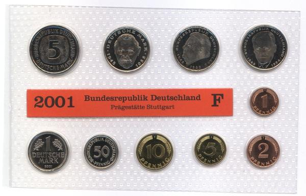 DM Kursmünzensatz von 2001 Münzstätte