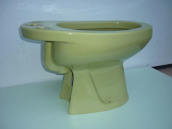Doppelwaschbecken keramik  Doppel-Waschbecken/ Bidet/ Keramik-Ablage in moosgrün in ...