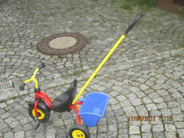 Gebraucht, Dreirad von Puky mit führung Stange und kipper gebraucht kaufen  84172 Buch
