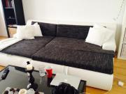 eckcouch couch schwarz weiß sofa wie neu in münchen - polster ... - Schwarz Wei Sofa