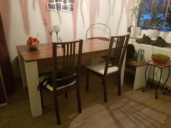 esstisch mit 2 b nken in hohenweiler speisezimmer essecken kaufen und verkaufen ber private. Black Bedroom Furniture Sets. Home Design Ideas