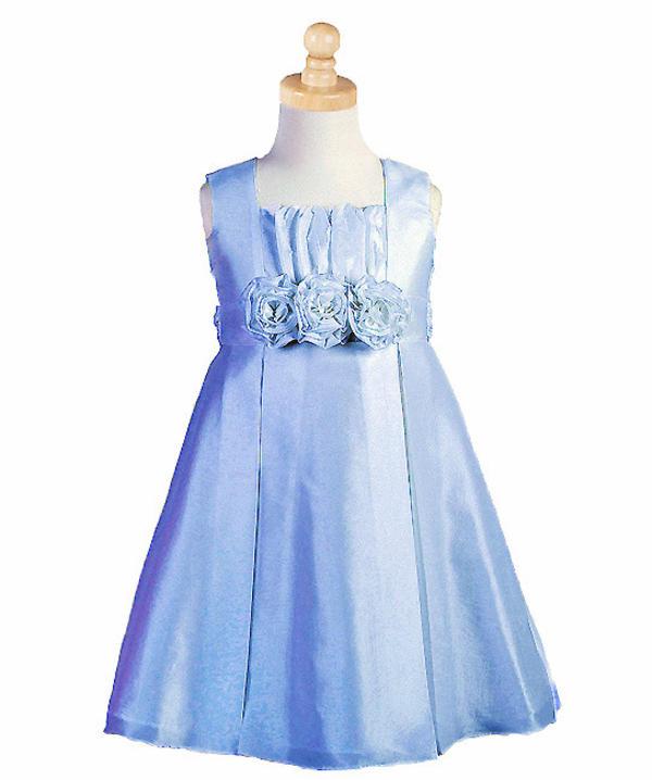 festliches kleid für maedchen stella in blau gr. ab 110
