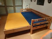 flexa bett 90 x 200 cm und g stebett zum ausziehen auf rollen in starnberg betten kaufen und. Black Bedroom Furniture Sets. Home Design Ideas