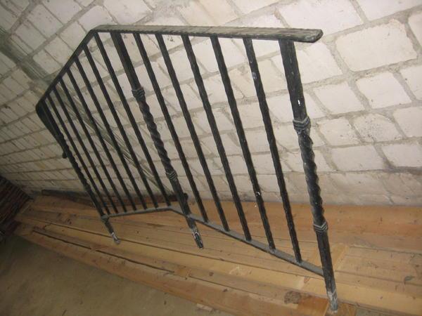 Geländer schwarz gehämmert 2 Teile