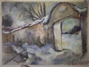 Gemälde auf Gewebe auf Holzrahmen
