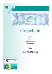 Geschenkgutschein - Hypnose - Rückführung - EFT-Klopftechnik - Coaching