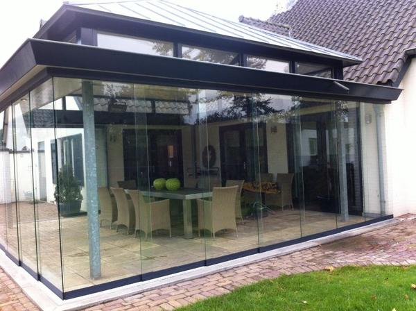 glasschiebewand in eindhoven sonstiges f r den garten balkon terrasse kaufen und verkaufen. Black Bedroom Furniture Sets. Home Design Ideas