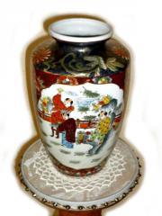 Große chinesische Porzellanvase mit Muster