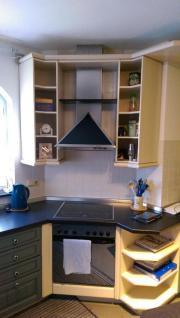 grosse nobilia k che wei blau fronten eiche massiv in utscheid k chenzeilen anbauk chen. Black Bedroom Furniture Sets. Home Design Ideas