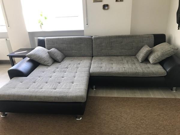 Gemütliches Sofa großes gemütliches sofa schwarz grau in waghäusel polster