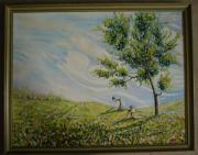 großes romantisches Ölbild schönes Gemälde