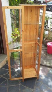 Holz-Glasvitrine mit