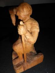 Holzfigur Krippenfiguren Hirte