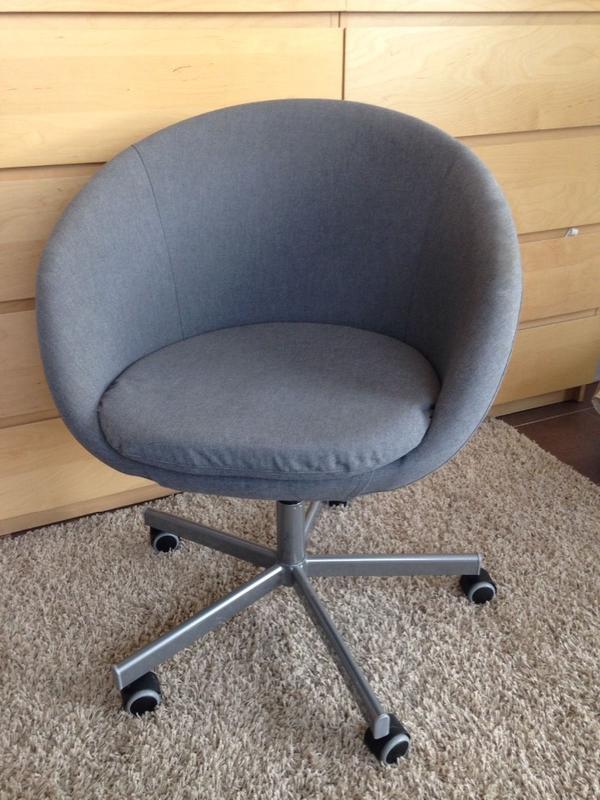 ikea skruvsta drehstuhl b rostuhl vissle grau in falkenstein ikea m bel kaufen und verkaufen. Black Bedroom Furniture Sets. Home Design Ideas