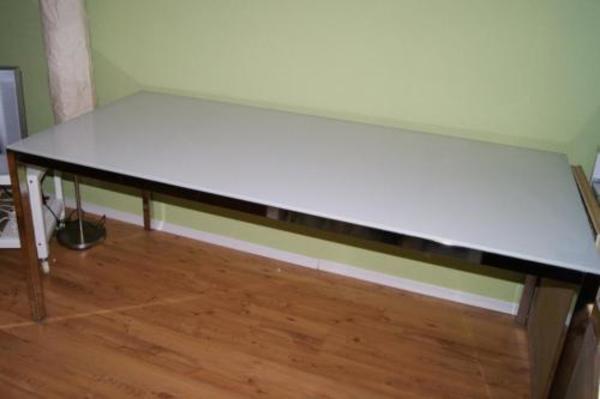 ikea torsby tisch esstisch glas glastisch weiss 180 x 85 cm in bischberg ikea m bel kaufen und. Black Bedroom Furniture Sets. Home Design Ideas