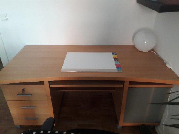 Jahnke Schreibtisch Buchenholz 160x75x80cm in Hamburg - Büromöbel ...